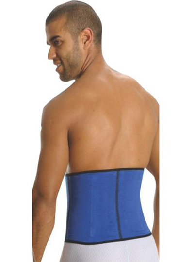Aranza Men's Latex Sports Blue Waist Cincher