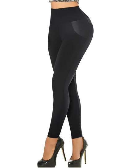 Aranza Women's Butt Lifting Leggings High Waisted with Body Shaper Inside Push UP Colombian Leggings