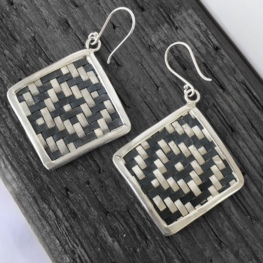 Hill Tribe • Classic Two Tone Weave Earrings
