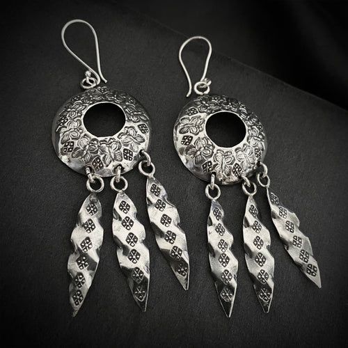 Hill Tribe • Akha Tribal Dangly Earrings