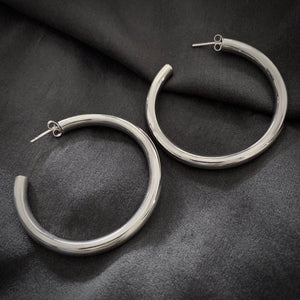 Hill Tribe • Akha Polish Large Hoop Earrings