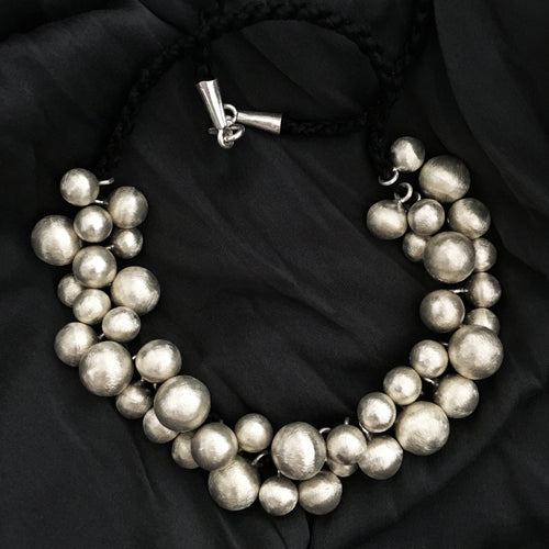 Hill Tribe • Grand Mekong Necklace w/ Hilltribe Fine Silver Beads