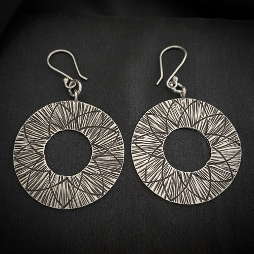 Hill Tribe • Akha Tribal Sun Earrings