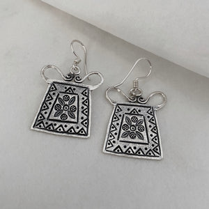 Hill Tribe • Akha 1st Dancer's Print Earrings