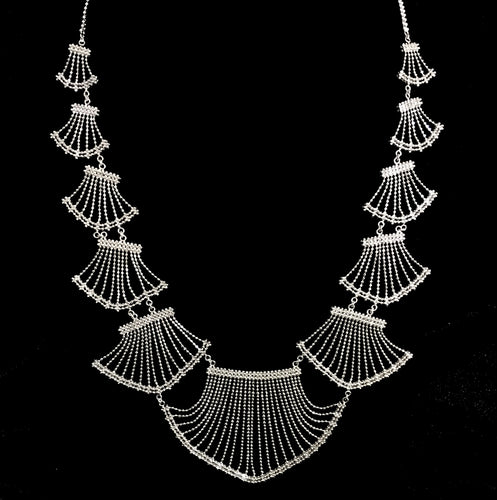 Lace • Classic Lao Lace Fan Necklace