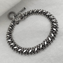 Noir • Classic Naga Bracelet w/ Leaf Accent in Small