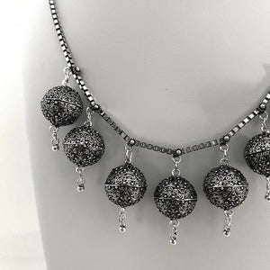 Noir • Classic Dancer's Ball Necklace