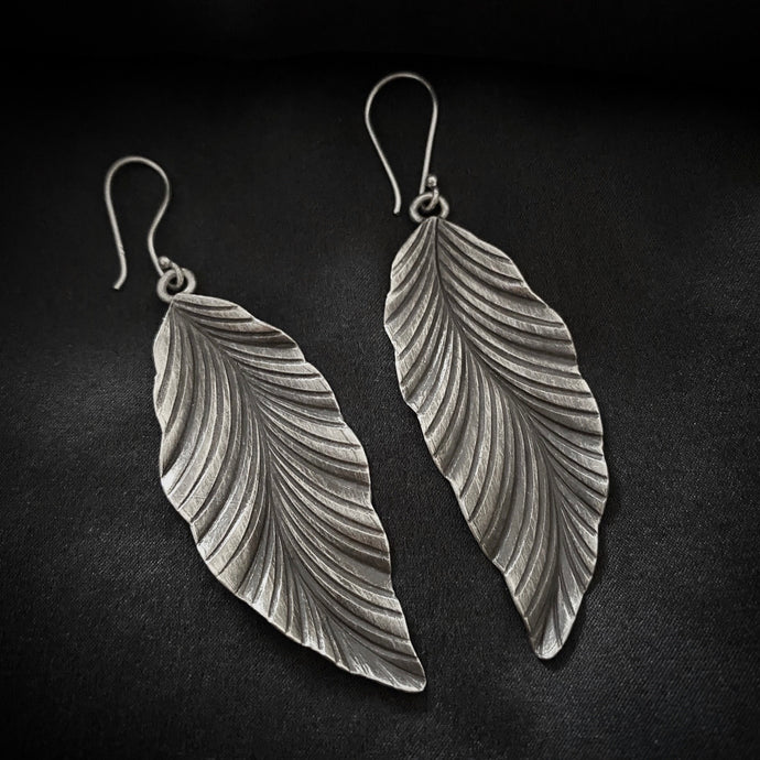 Hill Tribe • Akha Leaf Wave Earrings