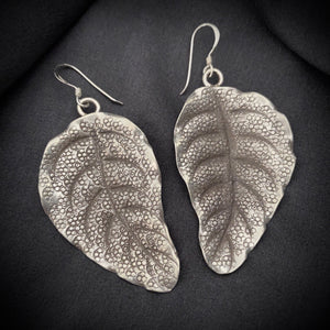 Hill Tribe • Akha Sketch Leaf Earrings