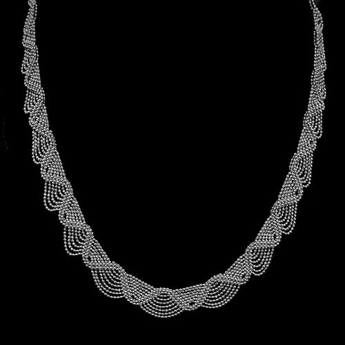 Lace • Classic Lao Lace Necklace w/ Zig Zag