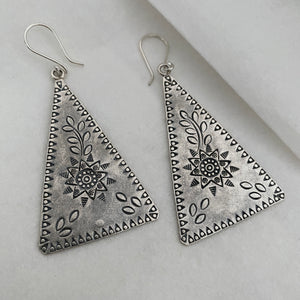 Hill Tribe • Champa Triangle Print Earrings