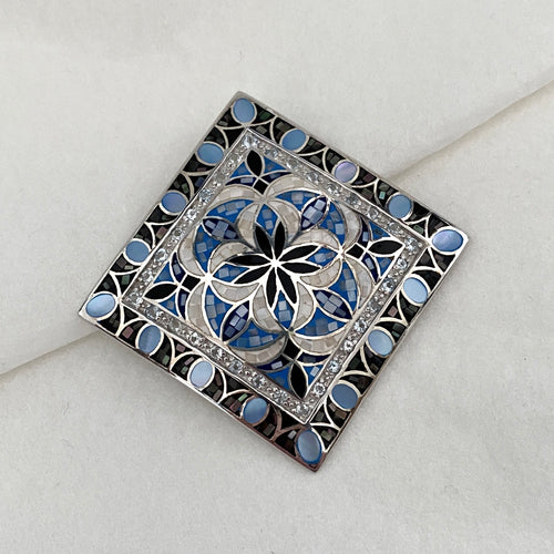 Stones • The Mosaic Pendant in Blue Topaz