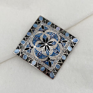 Stone • The Mosaic Pendant in Blue Topaz