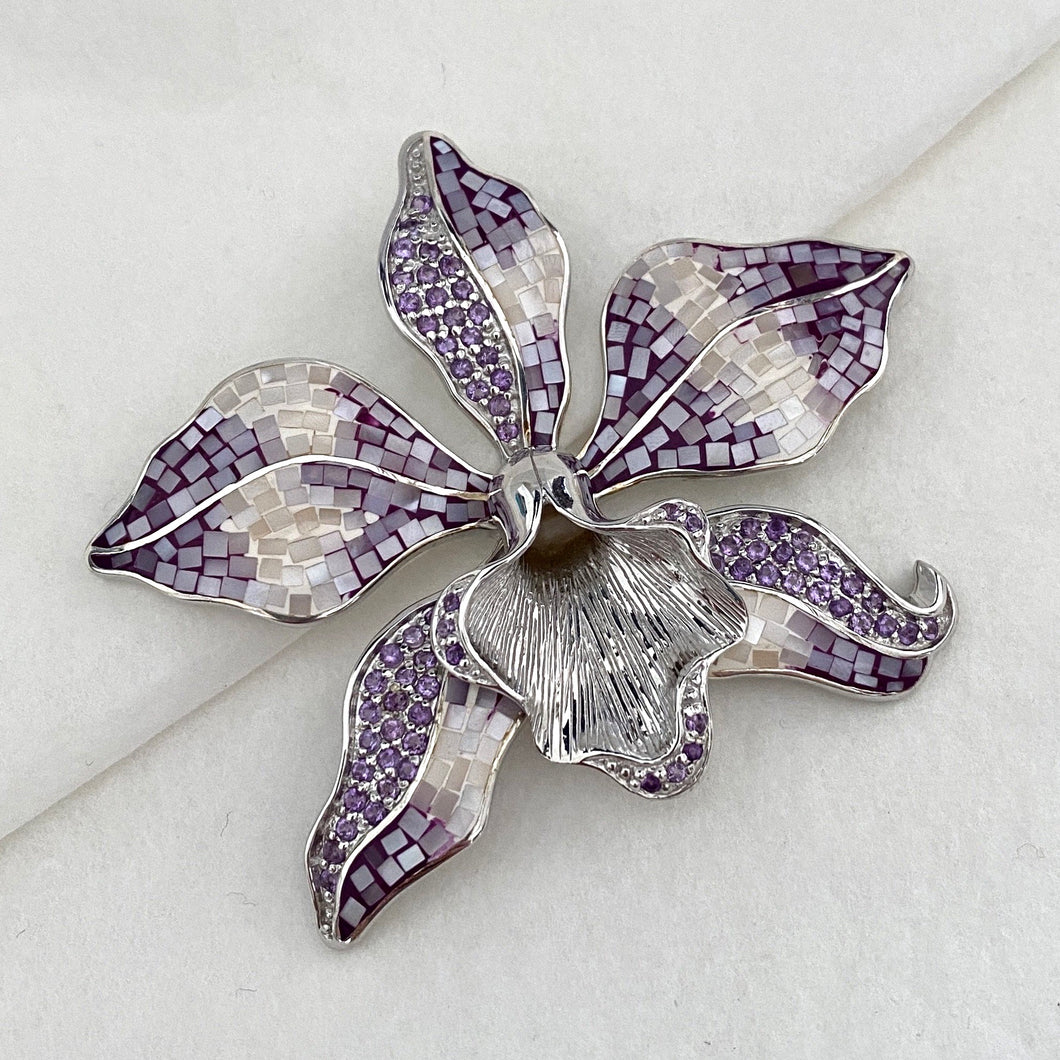 Stone • The Mosaic Orchid Pendant in Amethyst