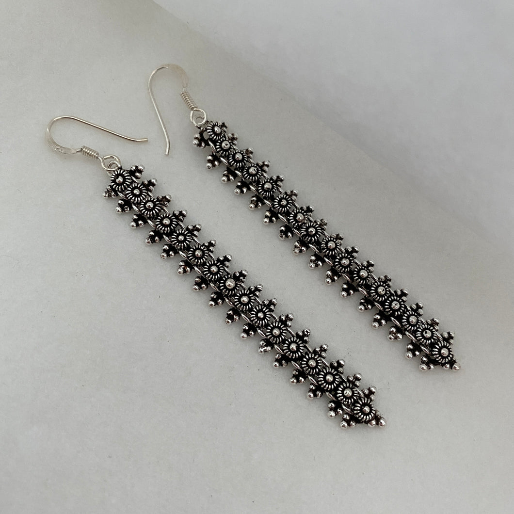 Noir • Classic Naga Earrings in Long