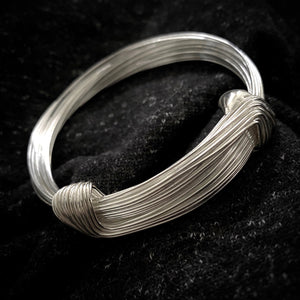 Hill Tribe • Silver Strand Wrap Bangle