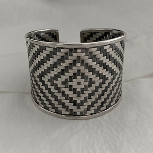 Hill Tribe • Classic Two Tone Diamond Weave Cuff