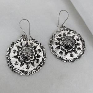 Hill Tribe • Classic Tribal Lotus Earrings