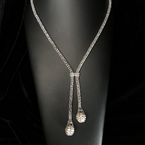 Lace • Classic Lao Lace w/ Fresh Water Pearl Necklace