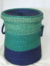 Laundry Hamper - Teal & Blue