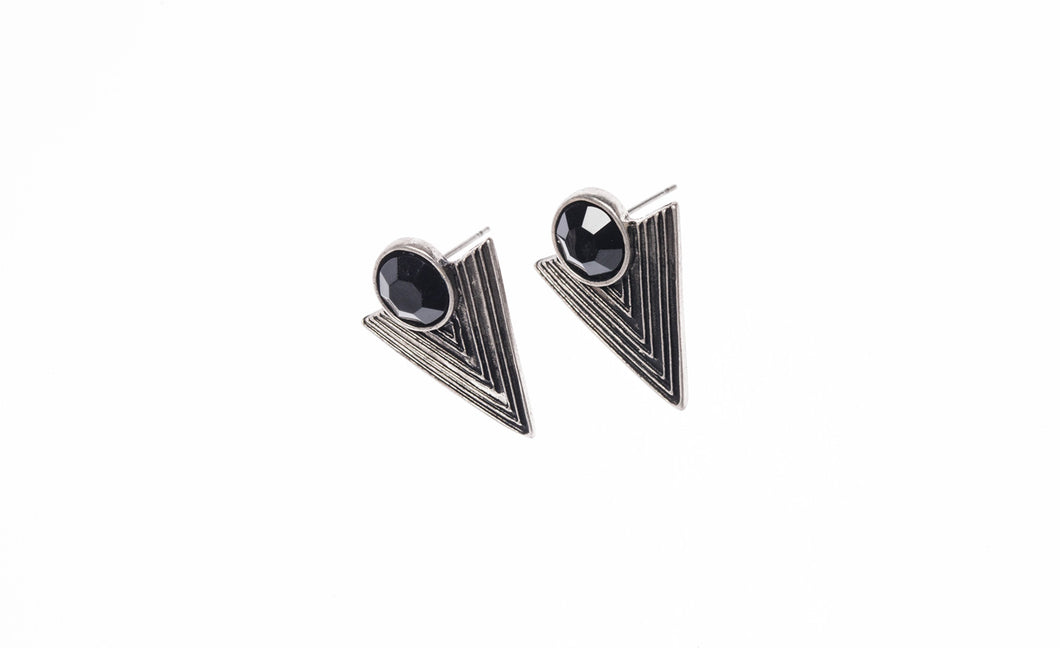 Retro geometric earrings