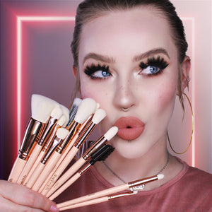 Rose Gold Must Have Pro Makeup Brush Set By Jordi Dreher x Furless
