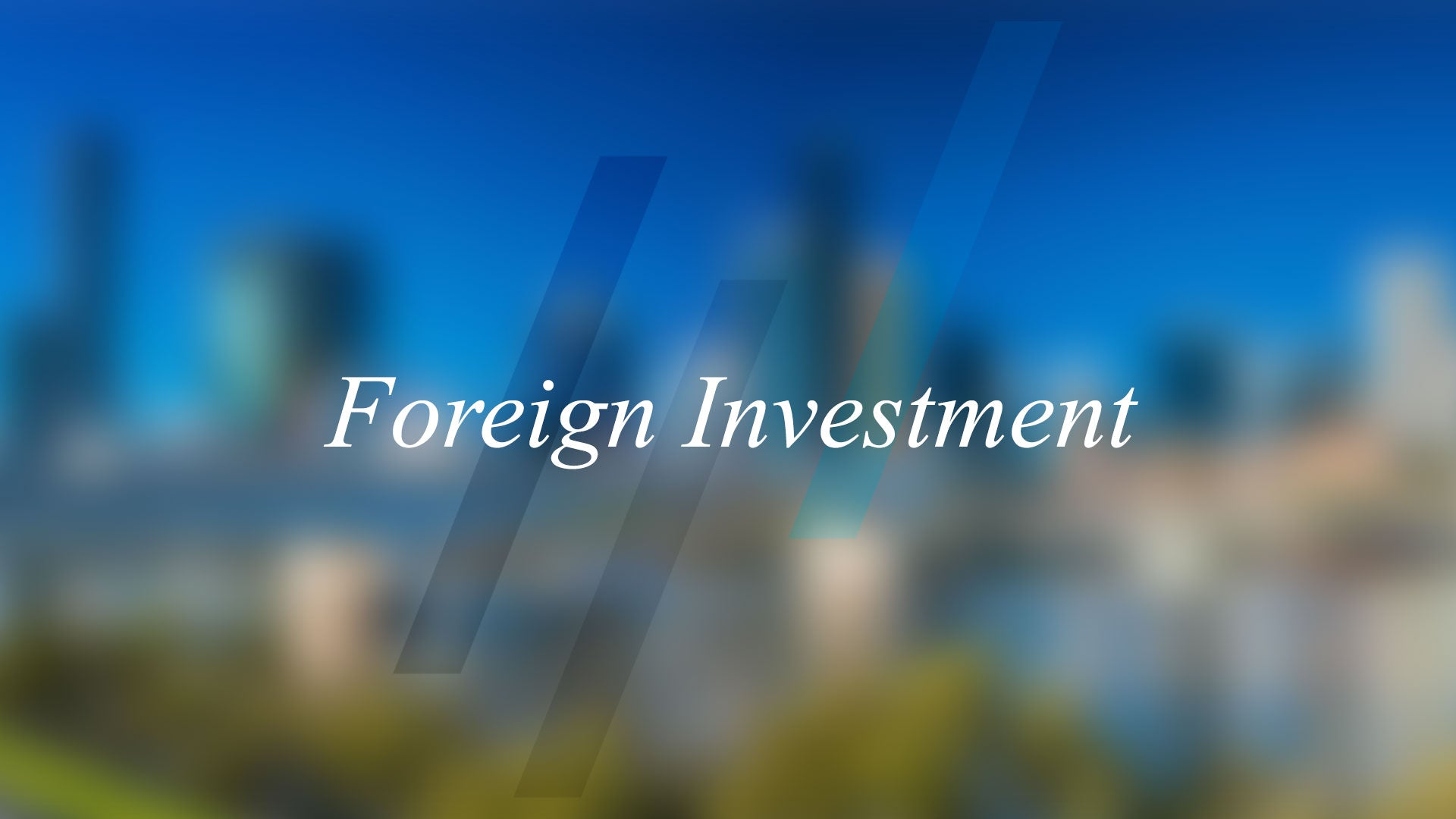 How does Foreign Investment affect the market?