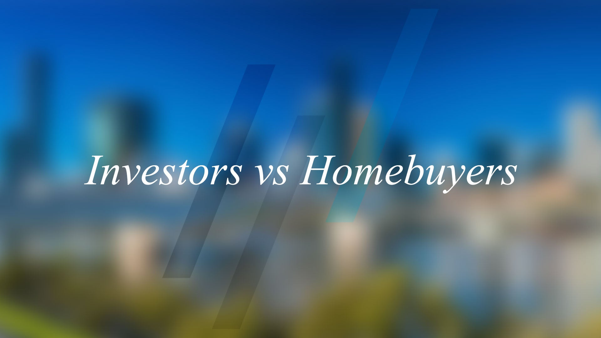 Investor : Homebuyer Ratio