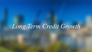How does long term credit growth affect property prices?