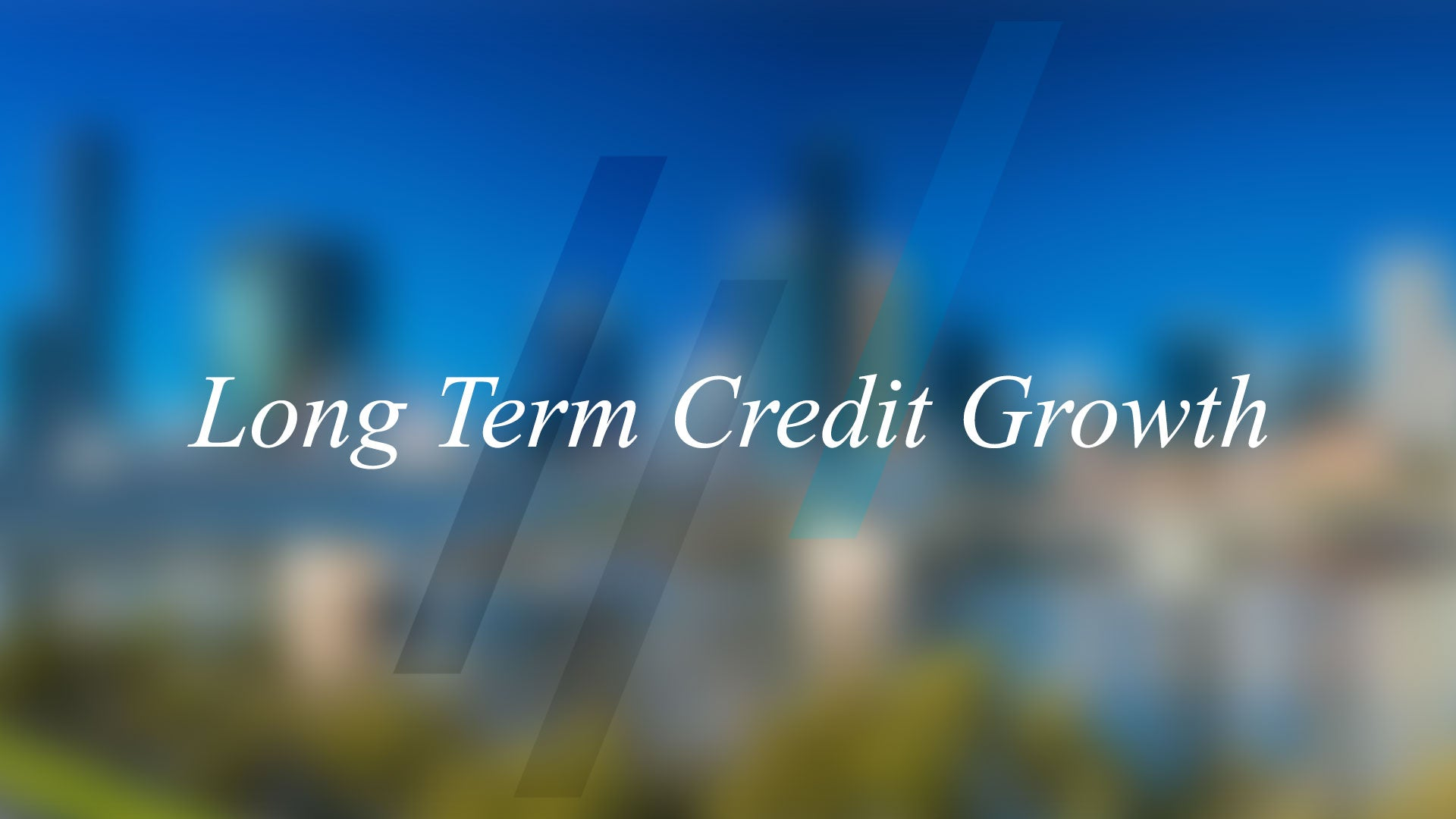 Long Term Credit Growth