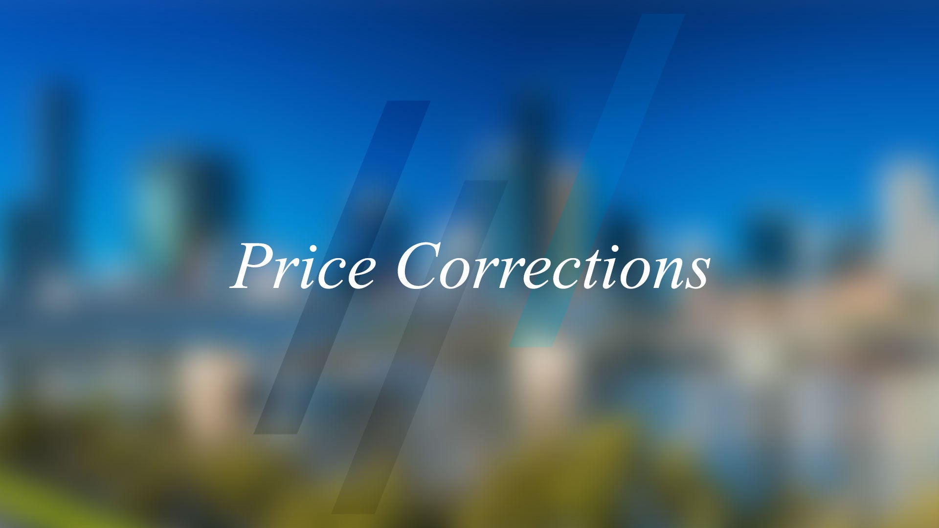 Price Correction