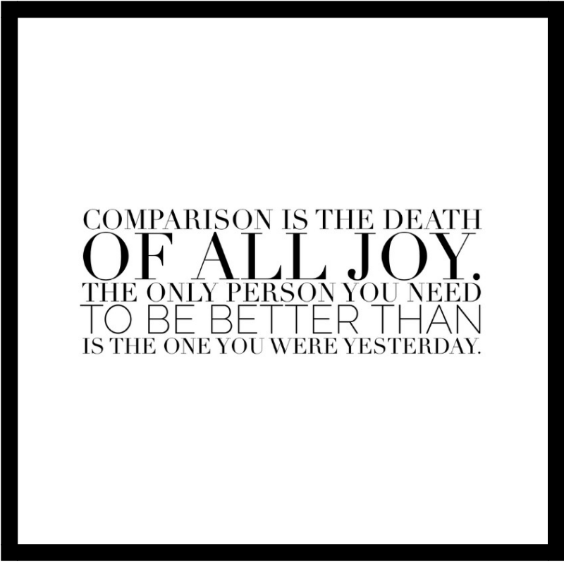Comparison Takes Your Power Away