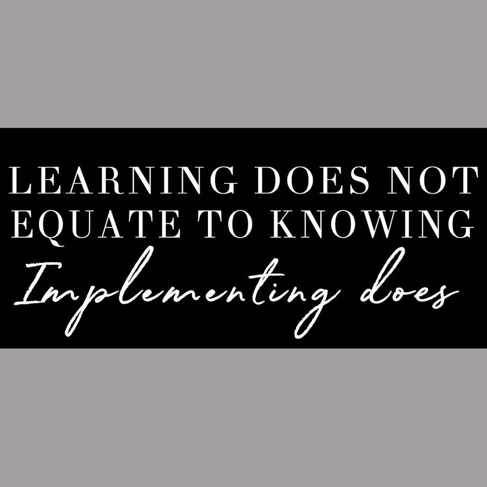 Learning does not equate to knowing