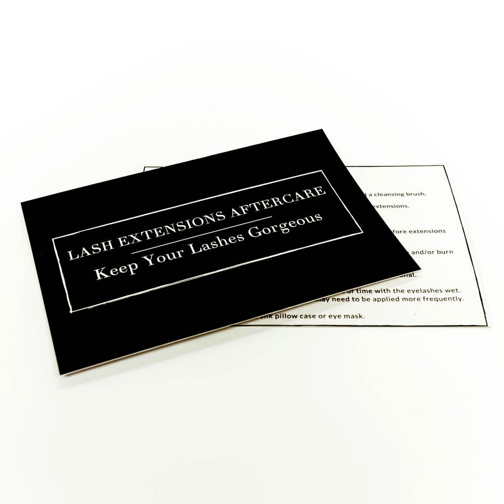 Eyelash Extension Aftercare Card