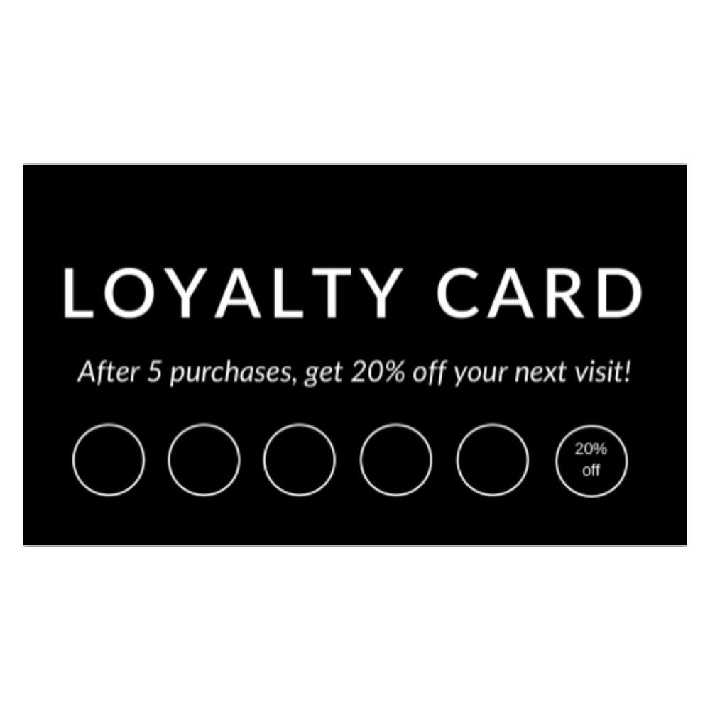 LOVE Loyalty Cards (Pack of 5 or 10)