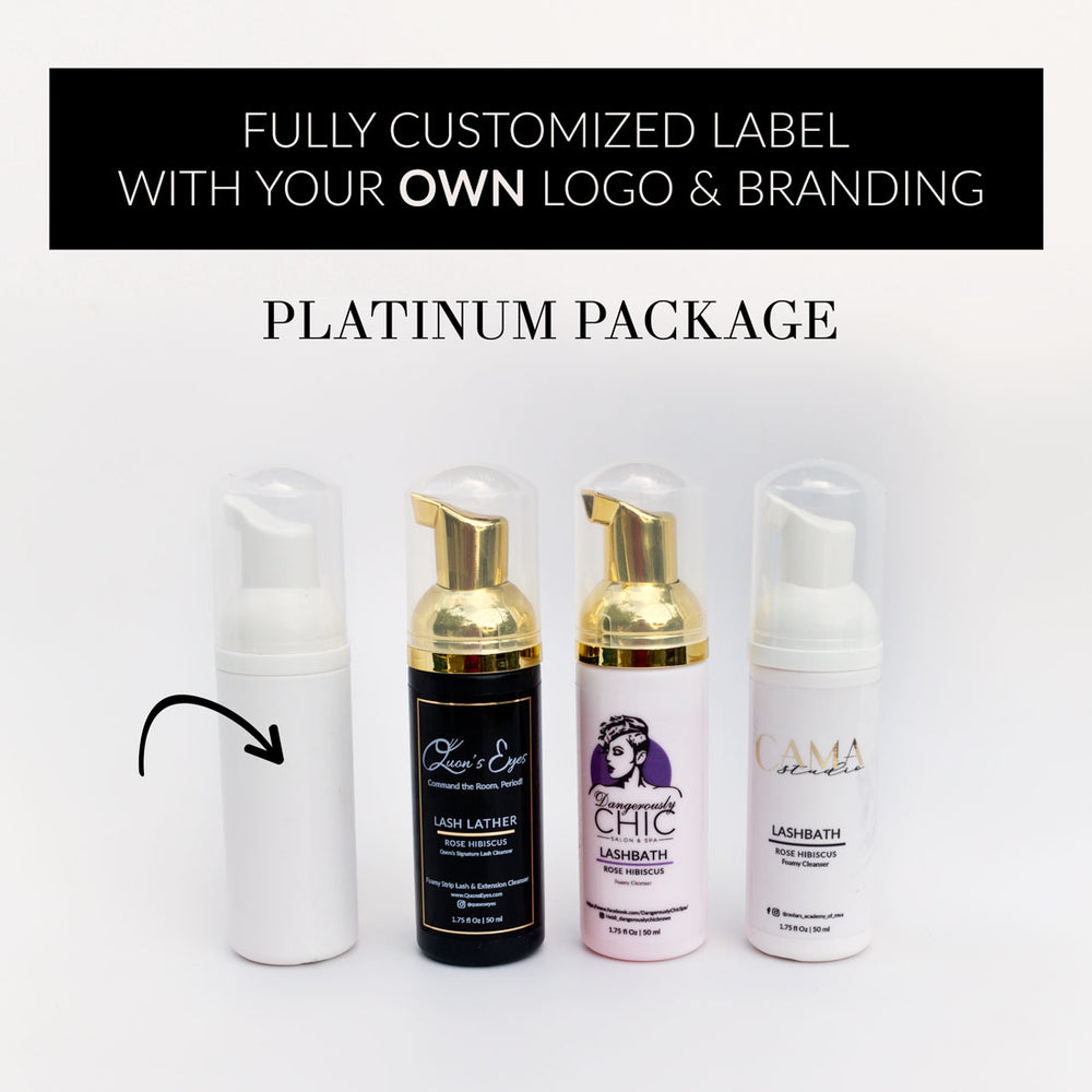 LASHBATH Rose Hibiscus™ Platinum Package (Includes high quality labels with your own logo)