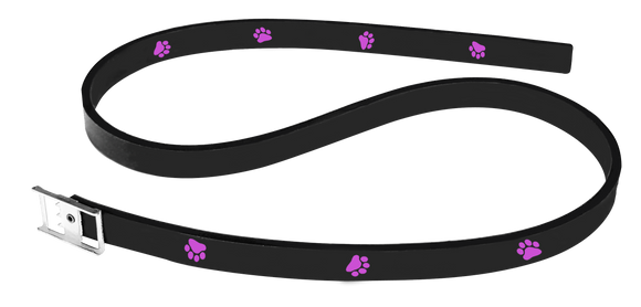 Pet Collars Pink Paws Print