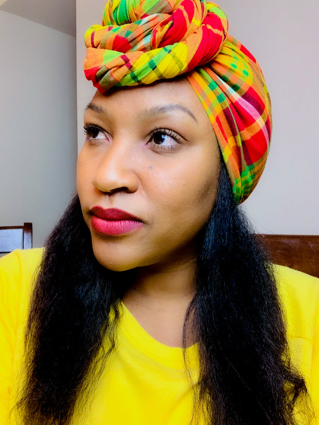 Do It For The Kulture Madras Headwrap