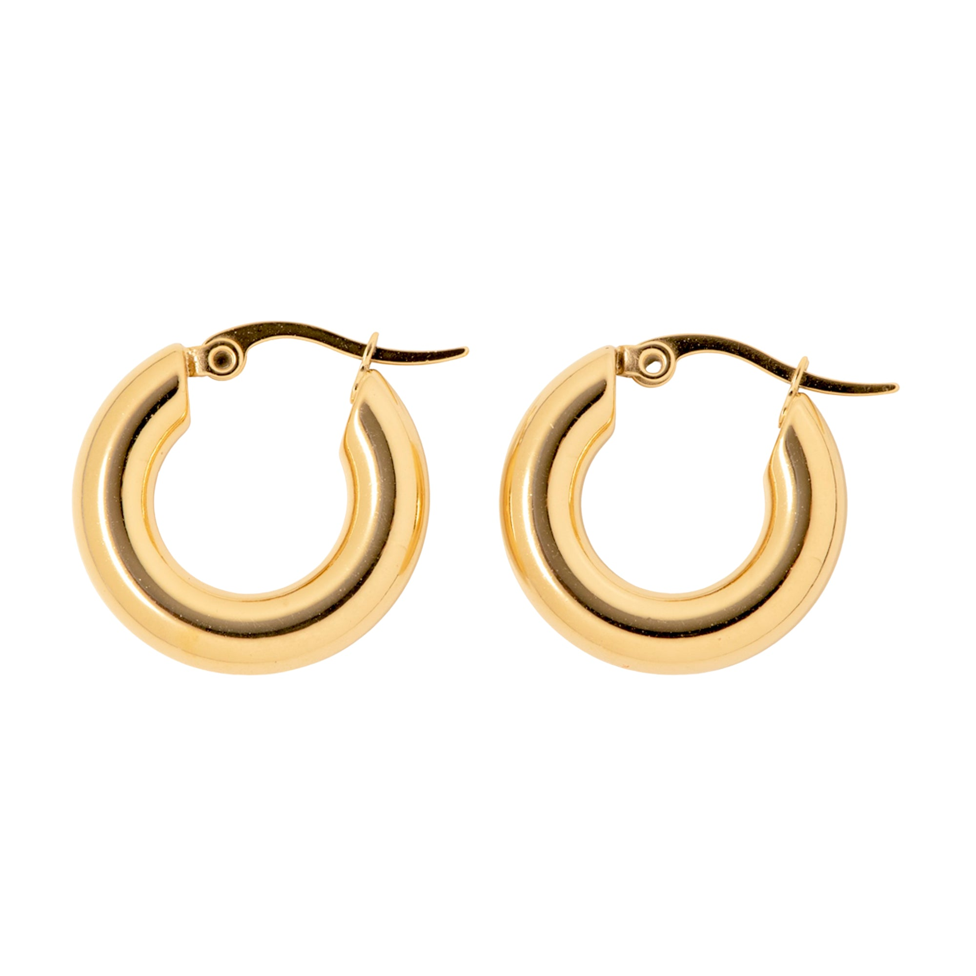 Small Gold Huggie Hoops