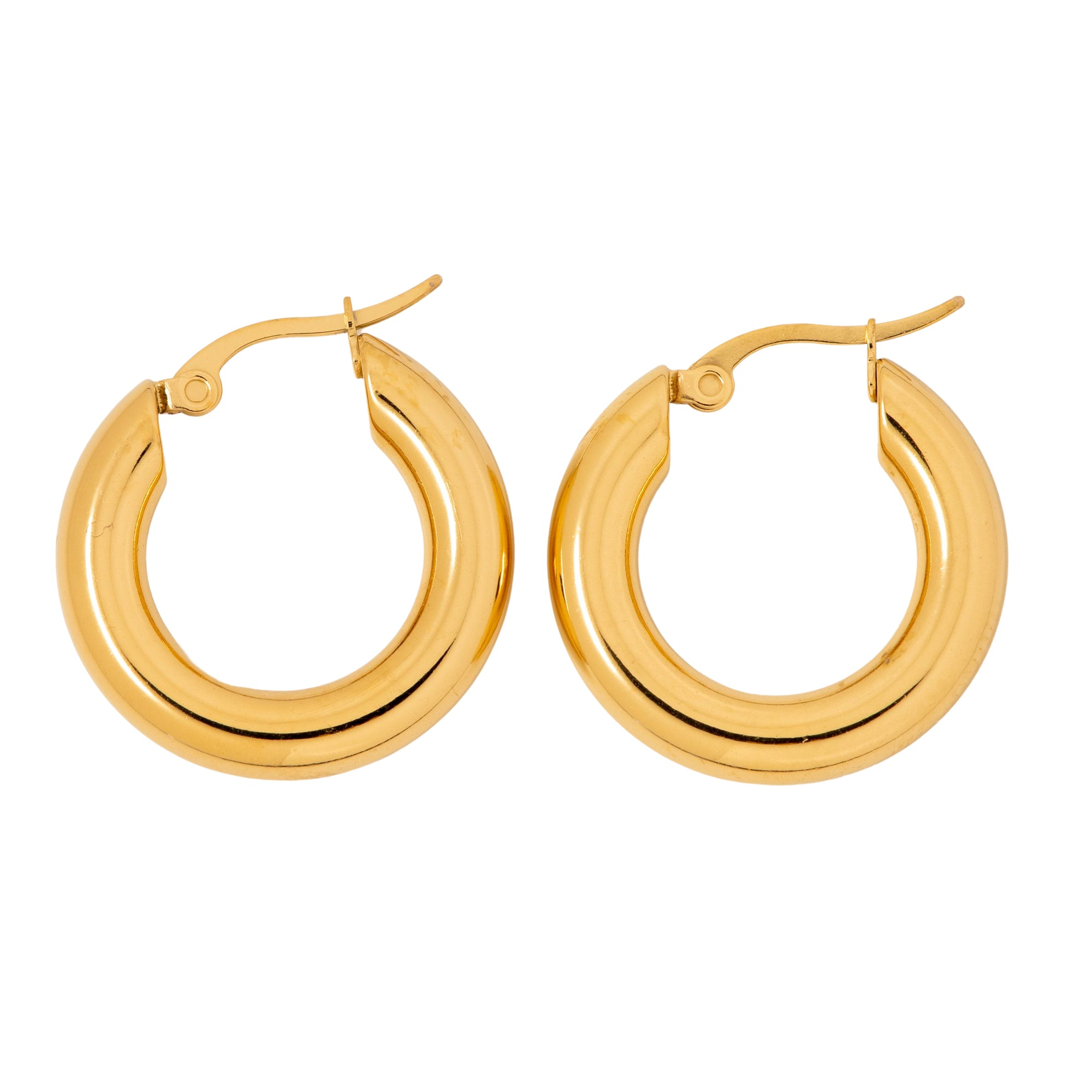 Medium Gold Huggie Hoops