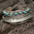 Tibetan Turquoise and Silver Bangle