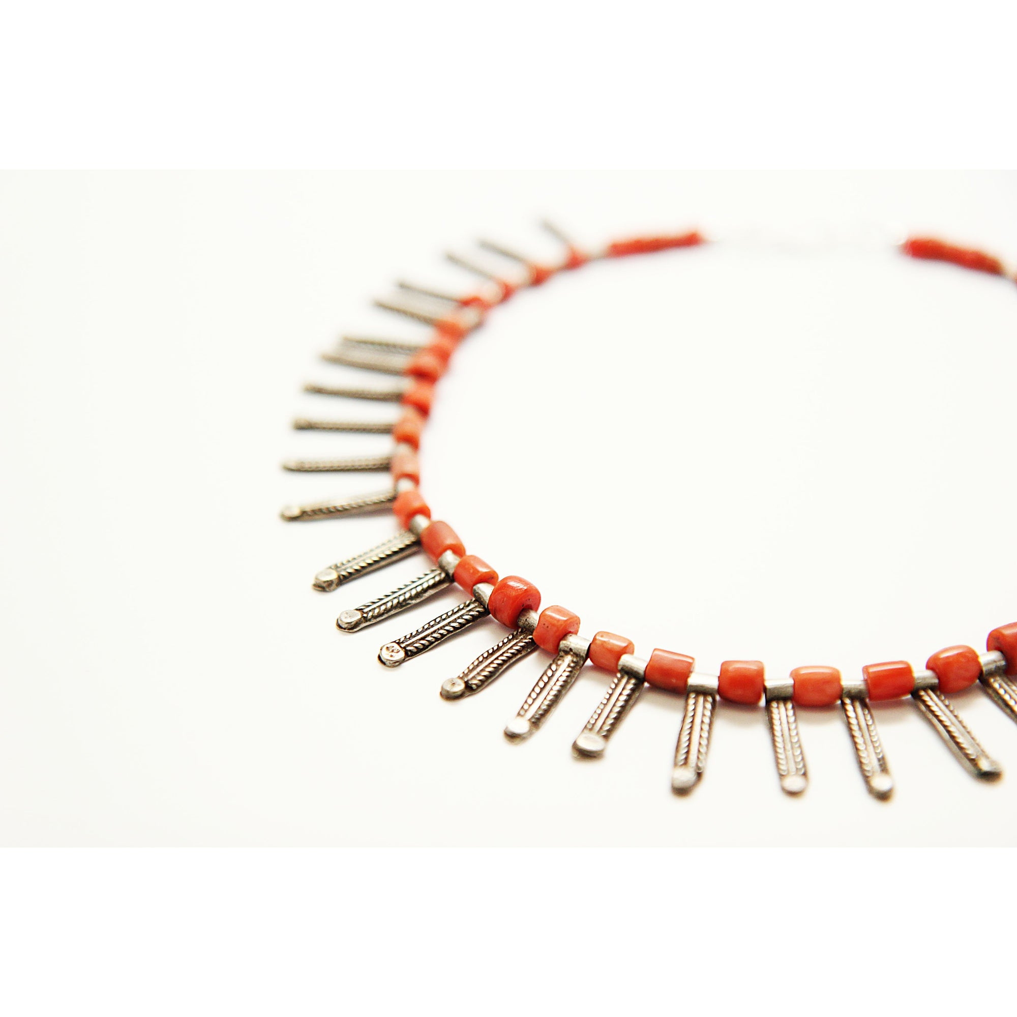 1/1 Antique Mediterranean Coral Necklace - Unique Jewelry by Ruminations Studio
