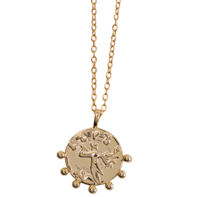 Gold Studded Charm Necklace