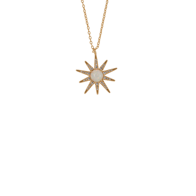 Opal Bursting Star Necklace