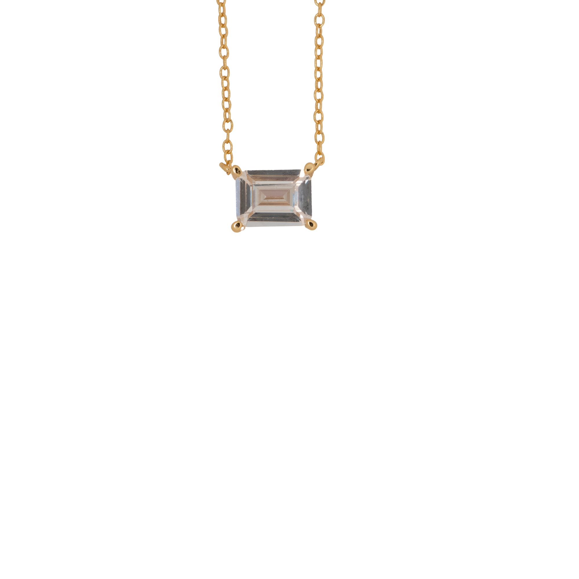 Rectangle Solitaire Necklace