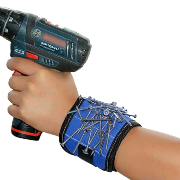 Newclue Magnetic Wristband With Strong Magnets for Holding Screws, Nails, Bolts, Drill bits, and Other Small Metal Tools