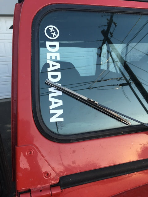 Deadman Window Sticker (Jeep)