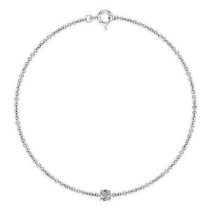 Solitaire Brilliant Diamond Bracelet 0.15Carat