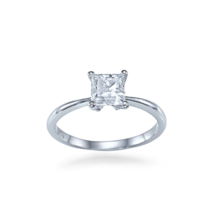 Solitaire Princess Cut Setting