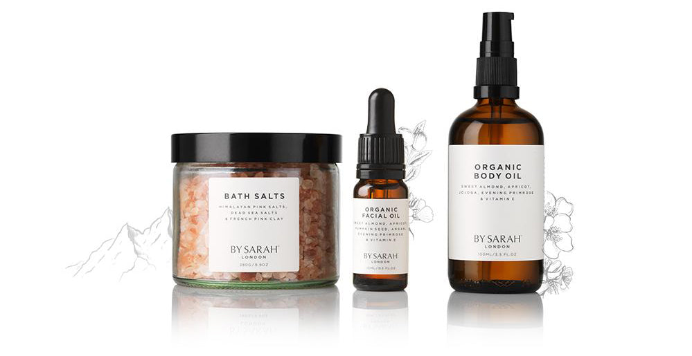 BY SARAH LONDON - Natural and Organic skincare collection - Full ingredient list on the front label